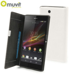 Muvit Sony Xperia Z Ultra Slim Folio Case - White