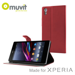 Muvit Sony Xperia Z1 Stick 'N' Stand Case - Red