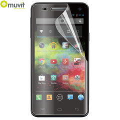 Muvit Twin Pack Matte & Glossy Screen Protector for Wiko Rainbow