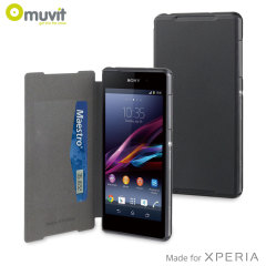 Muvit Ultra Slim Folio Case for Sony Xperia Z2 - Black