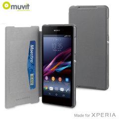 Muvit Ultra Slim Folio Case for Sony Xperia Z2 - Grey