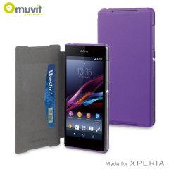 Muvit Ultra Slim Folio Case for Sony Xperia Z2 - Purple