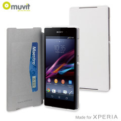 Muvit Ultra Slim Folio Case for Sony Xperia Z2 - White