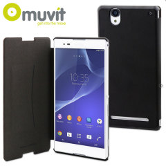 Muvit Ultra Slim Xperia T2 Ultra Folio Case - Black