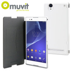Muvit Ultra Slim Xperia T2 Ultra Folio Case - White