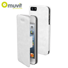 Muvit Ultra Thin Diary Flip Case for iPhone 5 - White