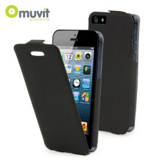 Muvit Ultra Thin Flip Case for iPhone 5S / 5 - Black