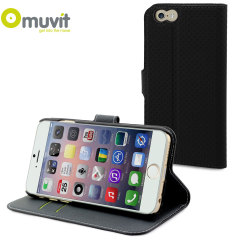 Muvit Wallet Folio iPhone 6 Case and Stand - Black