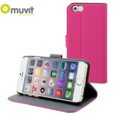 Muvit Wallet Folio iPhone 6 Case and Stand - Pink