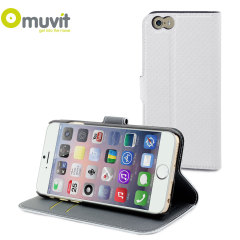 Muvit Wallet Folio iPhone 6 Case and Stand - White