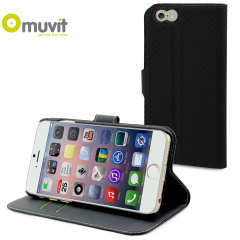 Muvit Wallet Folio iPhone 6 Plus Case and Stand - Black