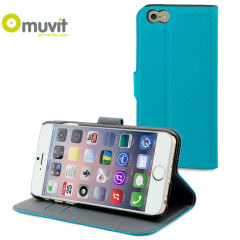 Muvit Wallet Folio iPhone 6 Plus Case and Stand - Turquoise