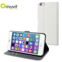 Muvit Wallet Folio iPhone 6 Plus Case and Stand - White