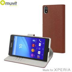 Muvit Wallet Folio MFX Sony Xperia Z5 Case - Camel