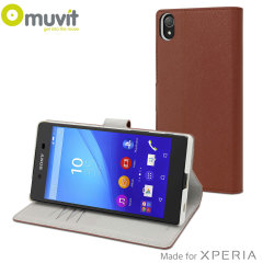 Muvit Wallet Folio MFX Sony Xperia Z5 Premium Case - Camel