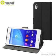 Muvit Wallet Folio Sony Xperia M4 Aqua Case And Stand - Black