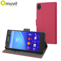 Muvit Wallet Folio Sony Xperia Z3+ Case And Stand - Pink