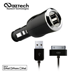 Naztech Gemini 3100mA Rapid Dual USB Charger for Apple Devices