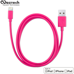Naztech MFI Sync and Charge Lightning to USB Cable 4ft - Pink