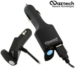 Naztech Stealth 1000mA Micro USB Rapid Car Charger with Extra USB Port