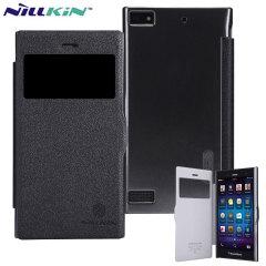 Nillkin Fresh Faux Leather BlackBerry Z3 View Case - Black