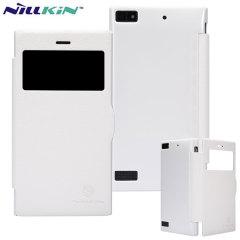 Nillkin Fresh Faux Leather BlackBerry Z3 View Case - White