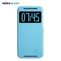 Nillkin Fresh Faux Leather HTC One M8 View Case - Blue