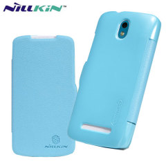 Nillkin HTC Desire 500 Leather-Style Flip Case - Blue