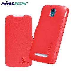 Nillkin HTC Desire 500 Leather-Style Flip Case - Red