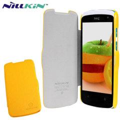 Nillkin HTC Desire 500 Leather-Style Flip Case - Yellow