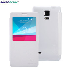 Nillkin Leather-Style Samsung Galaxy Note 4 View Case - White