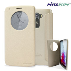 Nillkin LG G3 Circle View Case - Champagne Gold Sparkle