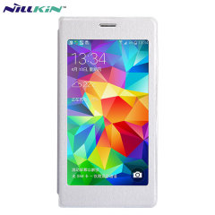 Nillkin Scene Samsung Galaxy S5 Leather-Style View Case - White
