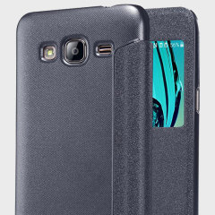Nillkin Sparkle Big View Window Samsung Galaxy J3 Case - Black