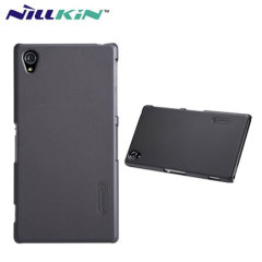 Nillkin Super Frosted Case for Xperia Z1 + Screen Protector - Black