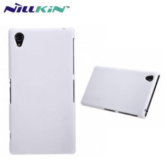 Nillkin Super Frosted Case for Xperia Z1 + Screen Protector - White