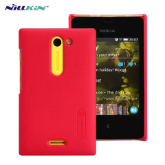 Nillkin Super Frosted Nokia Asha 502 Shield Case - Red