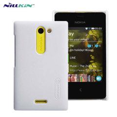 Nillkin Super Frosted Nokia Asha 502 Shield Case - White