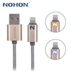 Nohon Lightning Charge & Sync Cable with Charging Status LED - Gold