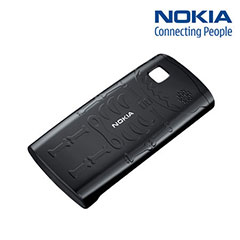 Nokia 500 Xpress-on Skeleton Hard Cover CC-3024 - Black
