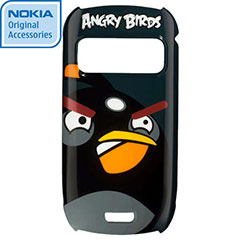 Nokia CC-5002 Angry Birds Hard Cover for C6-01 - Black Bird