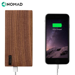 Nomad PowerPlant American Walnut Covered Power Bank - 12,000 mAh