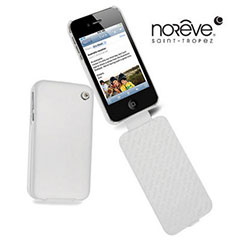 Noreve Tradition A Leather Case for iPhone 4S - White Nappa