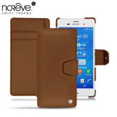 Noreve Tradition B Sony Xperia Z3 Leather Case - Marron