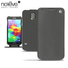 Noreve Tradition Samsung Galaxy S5 Leather Flip Case - Black