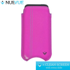 NueVue Leather iPhone 6 Cleaning Case - Pink w/ Green