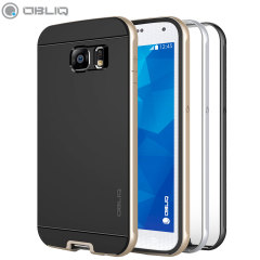 Obliq Dual Poly Galaxy S6 Bumper Cases 3 Pack - Gold, Silver, Titanium