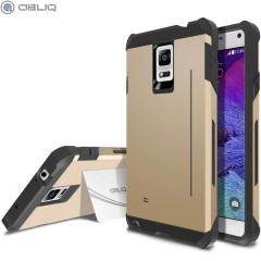 Obliq Skyline Pro Samsung Galaxy Note 4 Stand Case - Gold