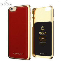Occa Absolute Premium Leather iPhone 6S / 6 Shell Case - Red