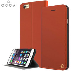 OCCA Jacket iPhone 6S / 6 Genuine Leather Wallet Case - Orange